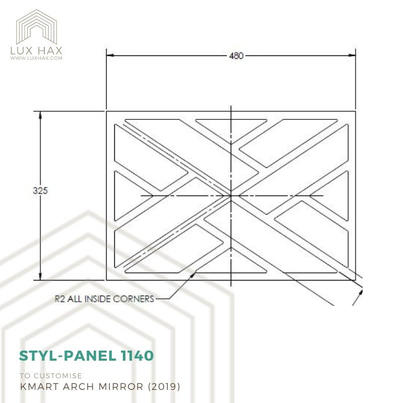 Styl-Panel #1121 to suit Kmart Oak Look Sideboard
