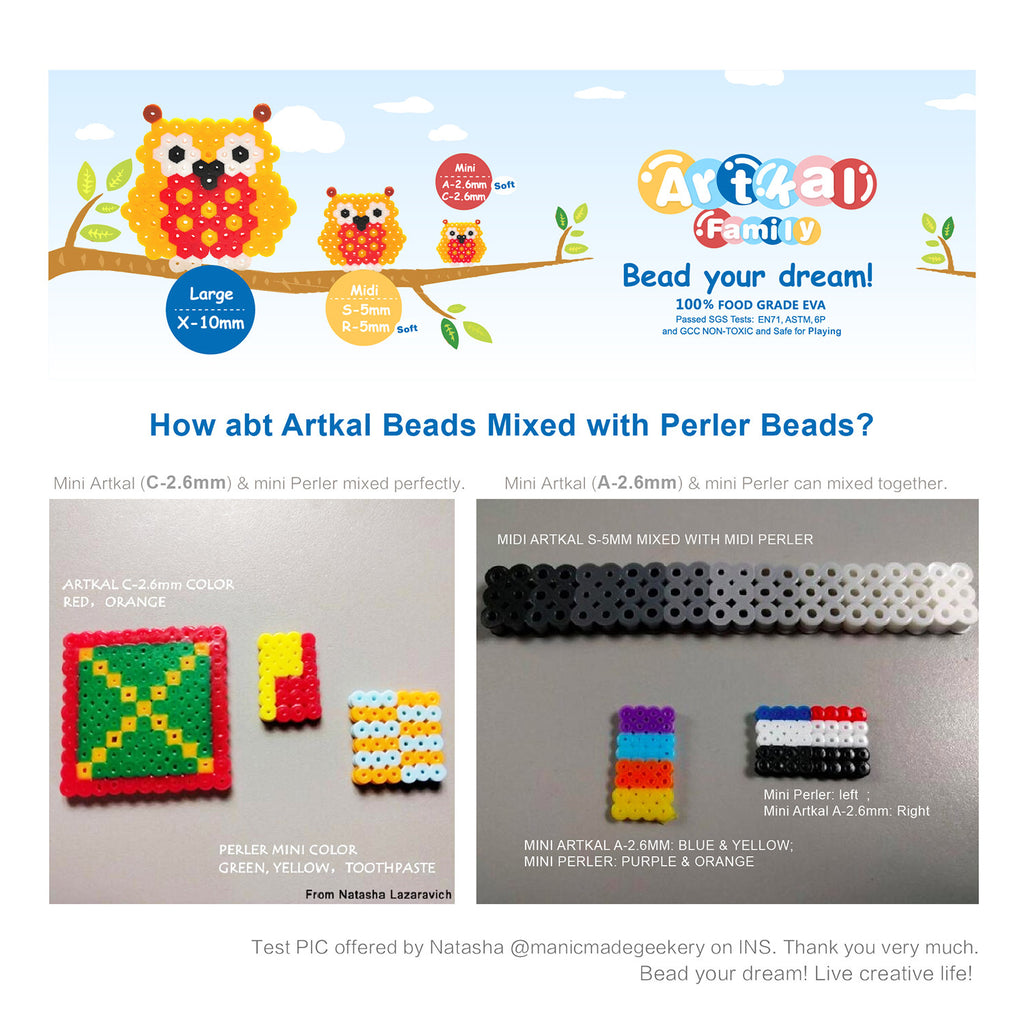 Which series of Artkal beads are compatible with perler and