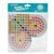 Heart pegboard for 10mm artkal fuse beads  XP09