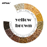 Yellow Brown-Midi 1000 beads Single Pack