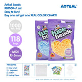 117 Bags 1000 Count Pack Midi R-5mm Artkal Beads RB1000-F