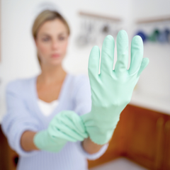 Kitchen gloves for dry hands