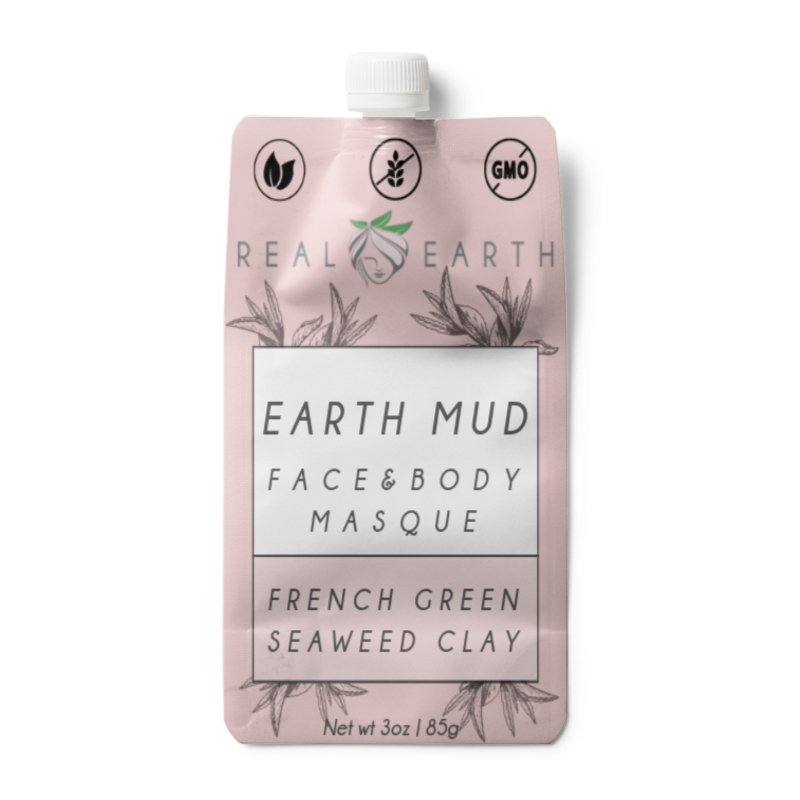 Earth Mud Body & Face Mask | French Green Seaweed - Real Earth - Face Mask