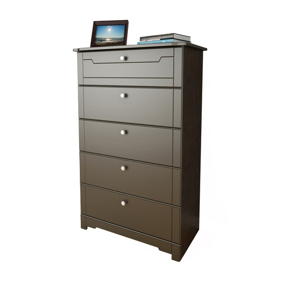 Mattress to My Door Haxby 5-Drawer Chest - Espresso