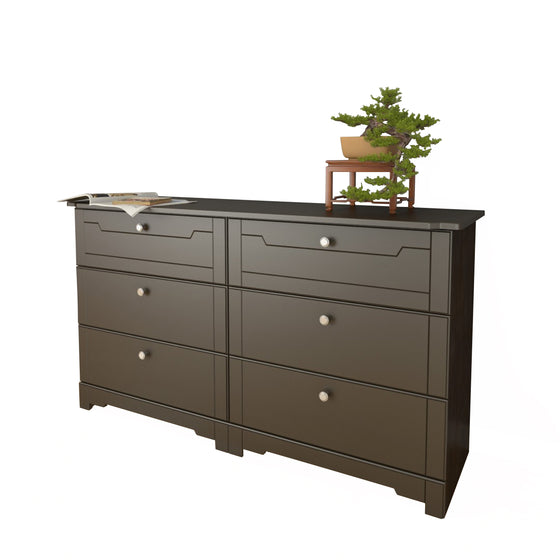 Mattress to My Door Haxby 6-Drawer Double Dresser - Espresso