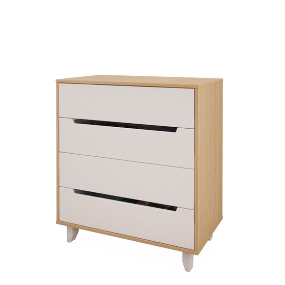 Mattress to My Door Lugo 4-Drawer Chest - Natural Maple/White