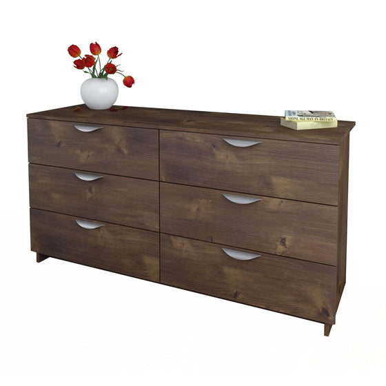 Mattress to My Door Cypress 6-Drawer Double Dresser - Truffle