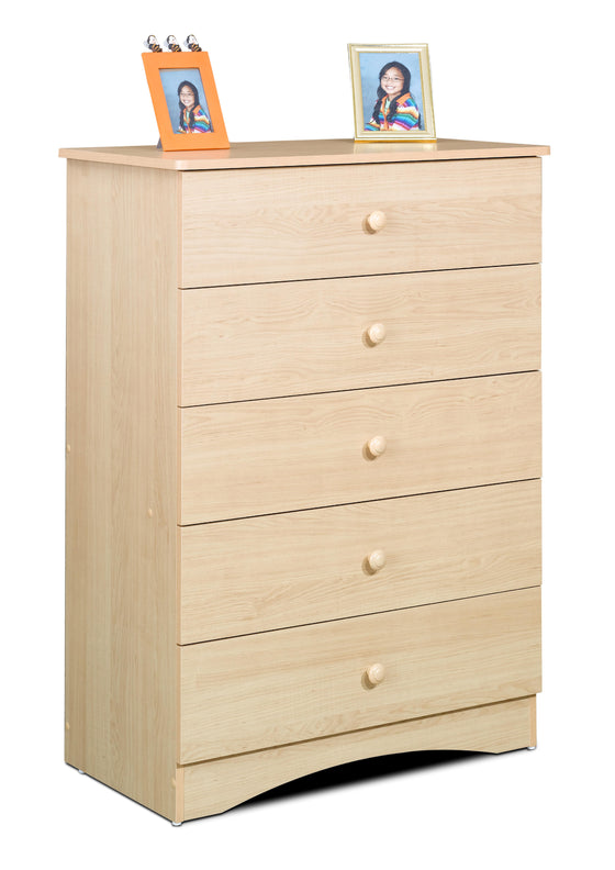Alora 5-Drawer Chest - Natural Maple