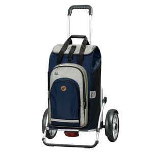 Andersen Royal Shopper Plus Hydro 2.0 Trillebag 60 Liter 5 kg Blå-Trillevogn-BagBrokers