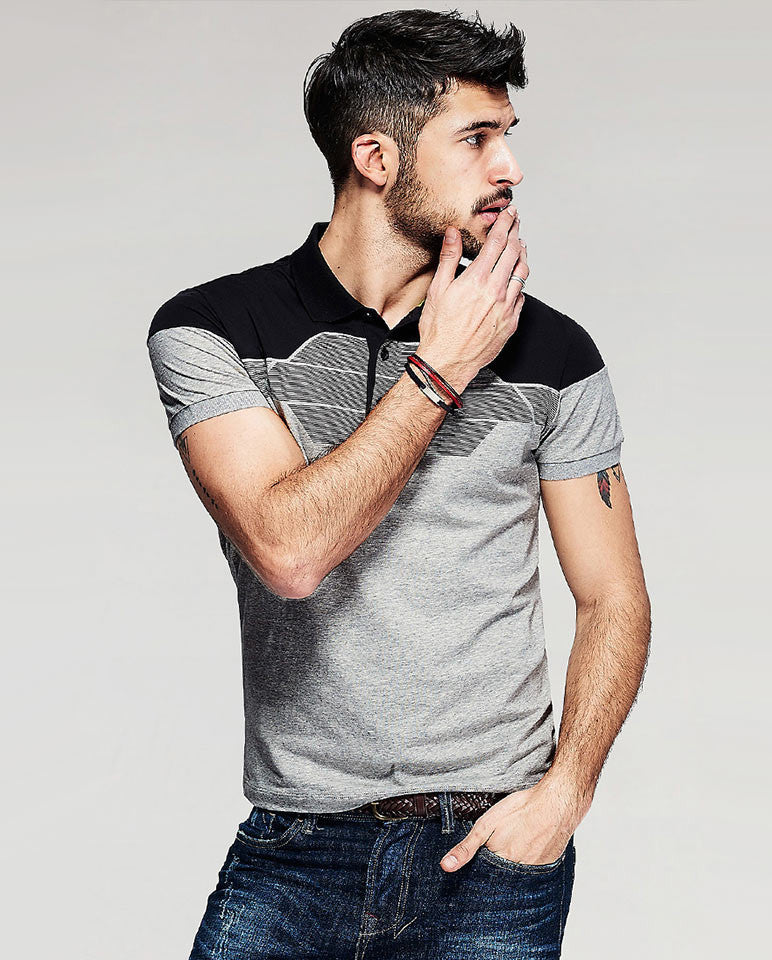 Grey T-shirt fashion Sportex