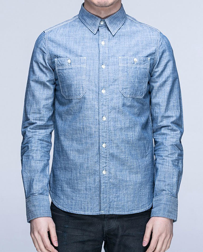 Long-Sleeve Denim Work Shirt