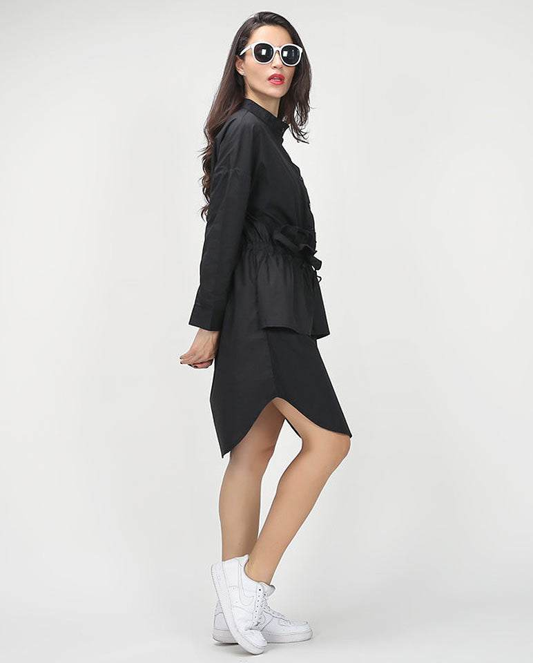 Sleeve shirt dress