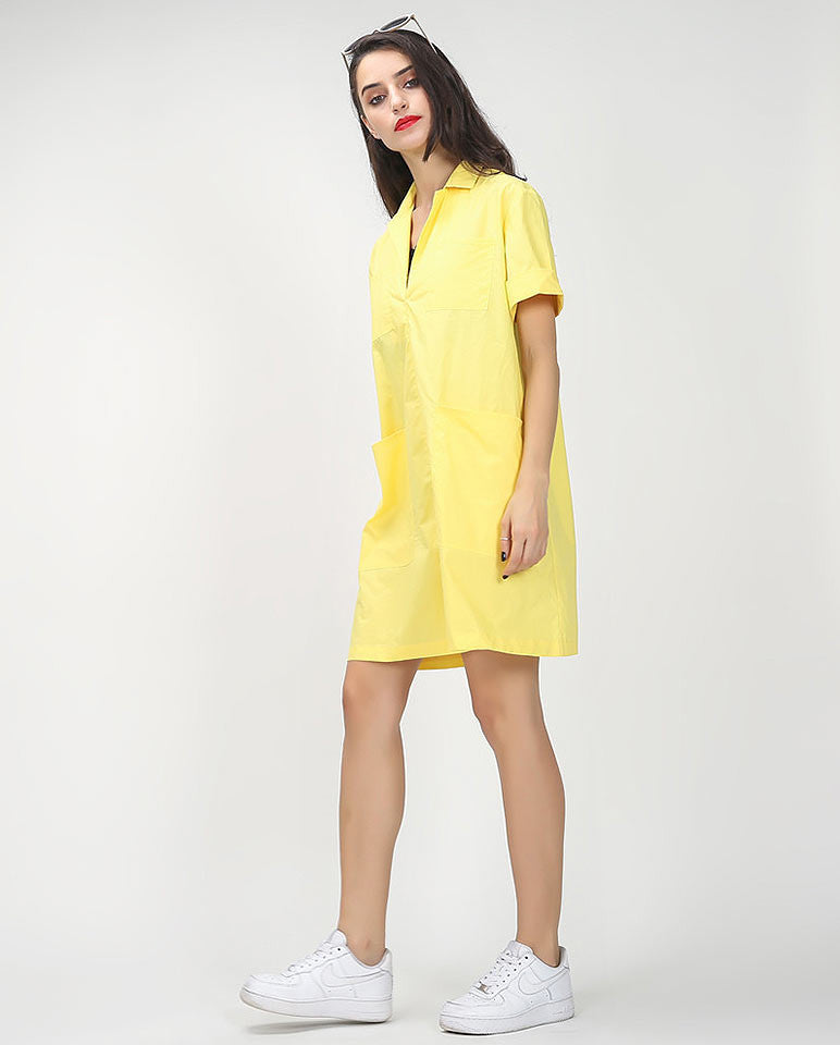 Tunic style shirt dress