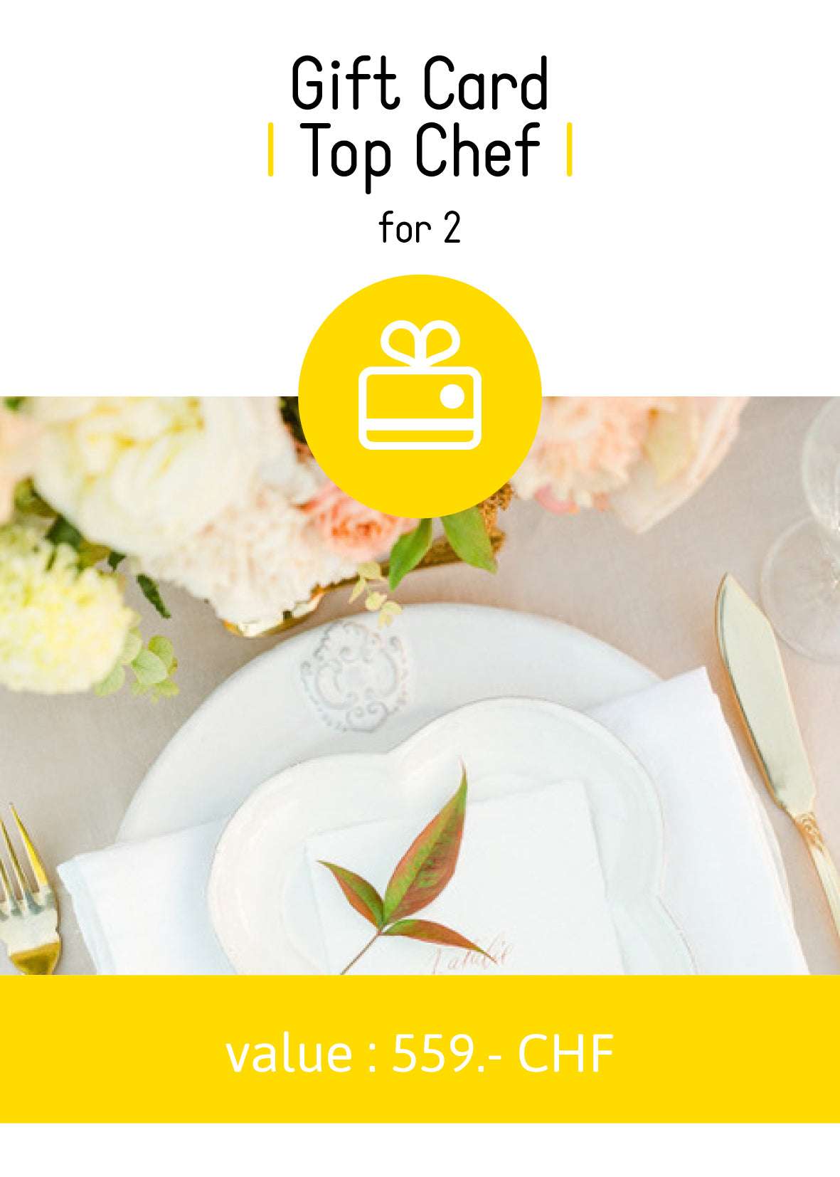 "Gift card ""Top Chef"" for 2"