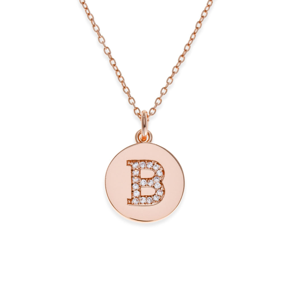18K Rose Gold Plated Initial Necklace - B | Kith & Kin | It's Personal Collection