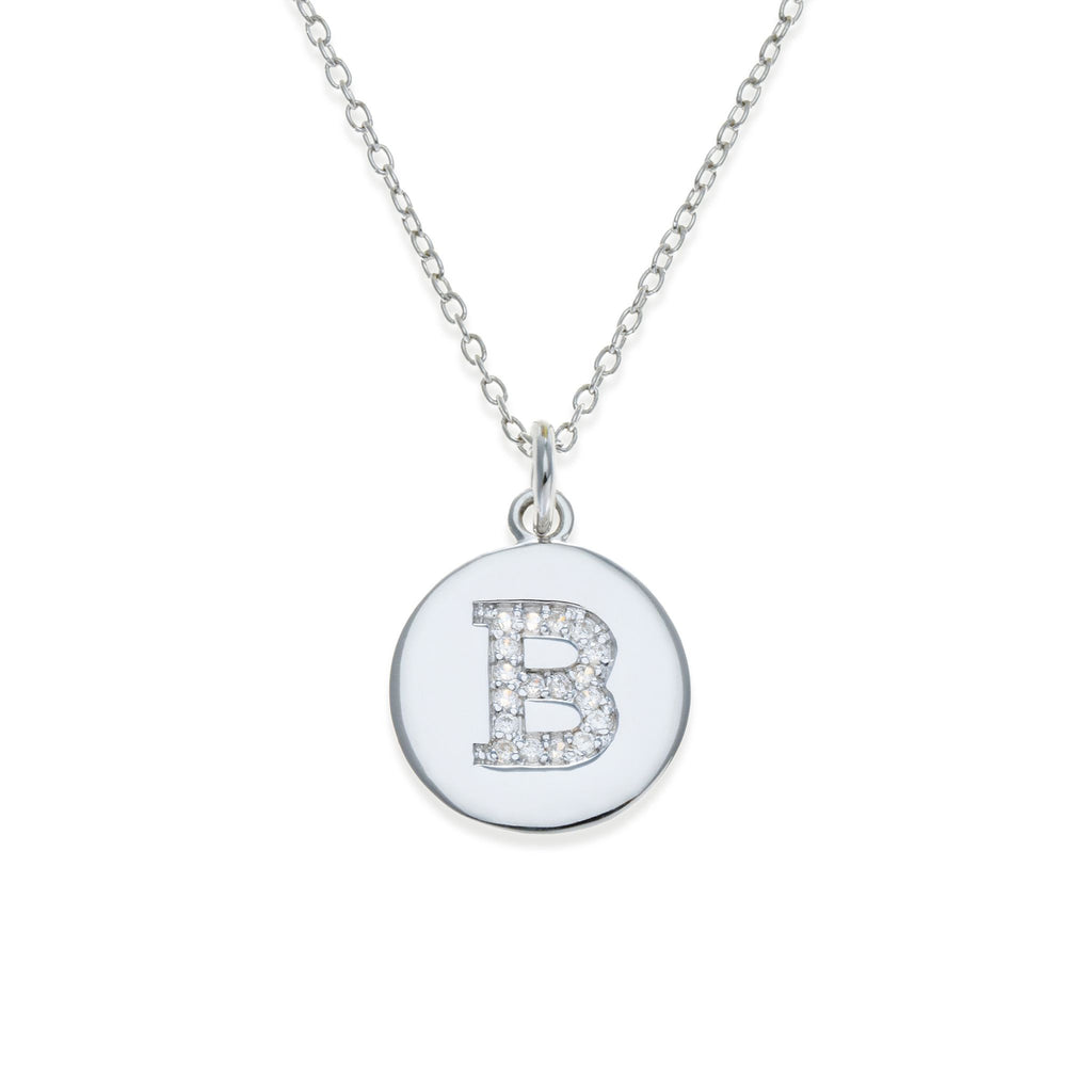 Sterling Silver Initial Necklace - B | Kith & Kin | It's Personal Collection
