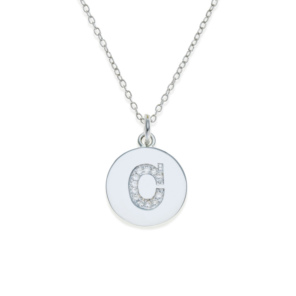 Sterling Silver Initial Necklace - C | Kith & Kin | It's Personal Collection