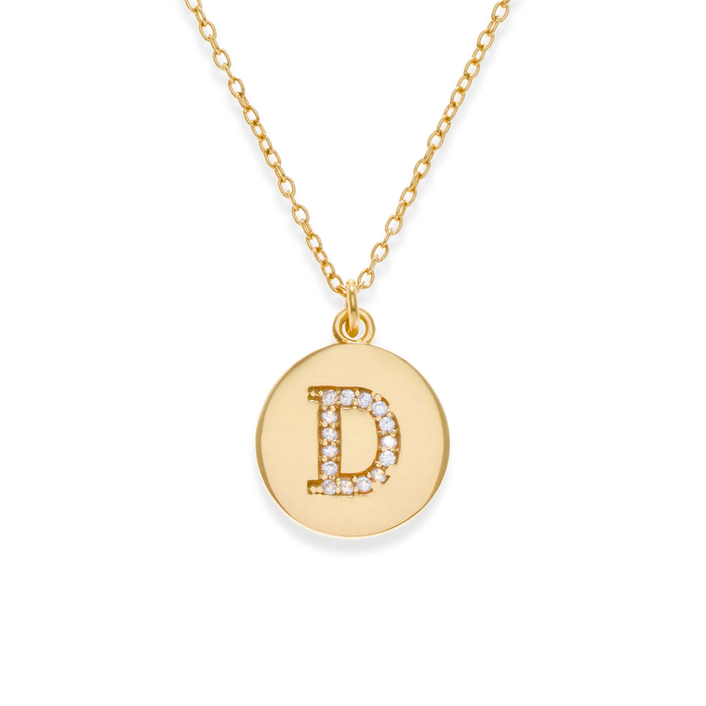 18K Gold Plated Initial Necklace - D | Kith & Kin | It's Personal Collection