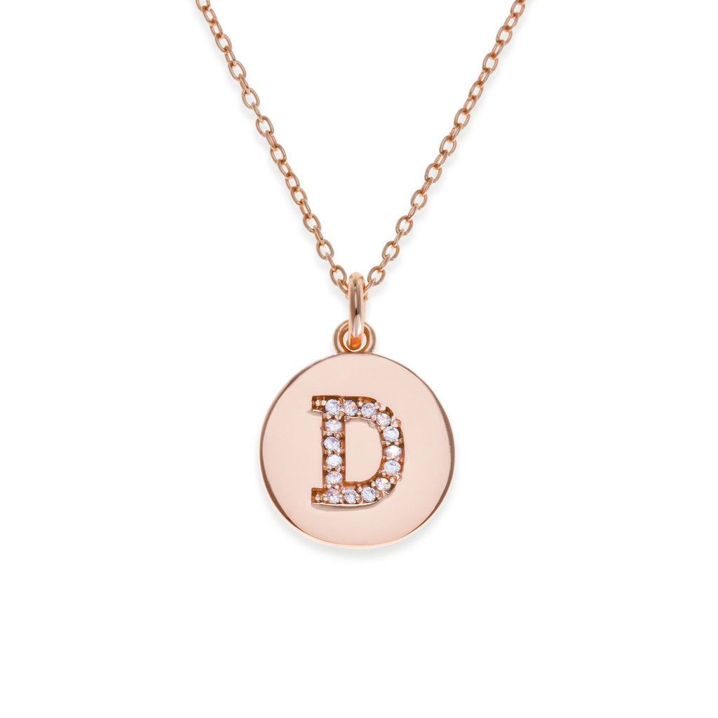 18K Rose Gold Plated Initial Necklace - D | Kith & Kin | It's Personal Collection