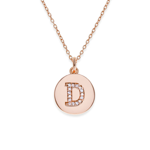 Sterling Silver Initial Necklace - D | Kith & Kin | It's Personal Collection