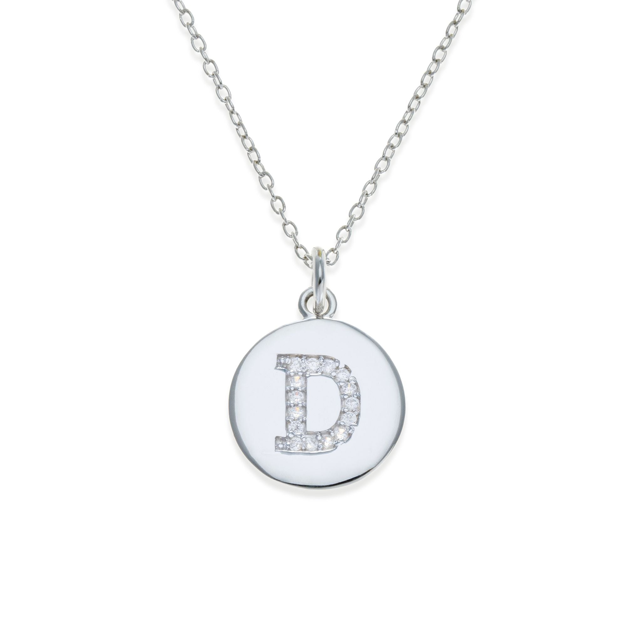 Sterling silver initial necklace d kith kin its personal sterling silver initial necklace d kith kin its personal collection aloadofball Gallery