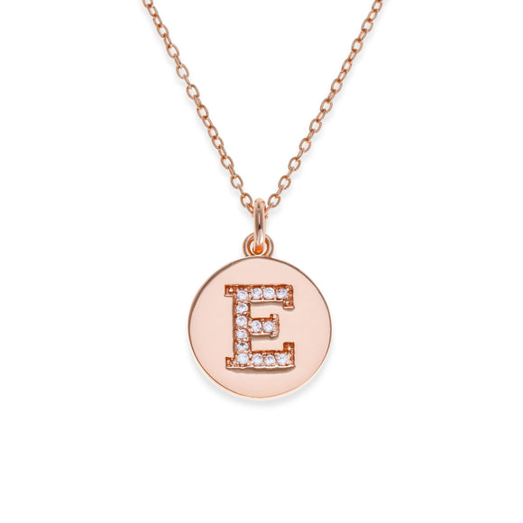 Sterling Silver Initial Necklace - E | Kith & Kin | It's Personal Collection