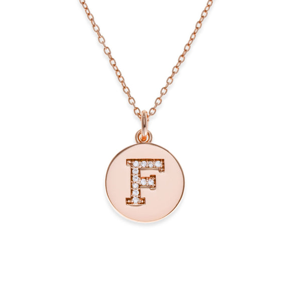 Sterling Silver Initial Necklace - F | Kith & Kin | It's Personal Collection