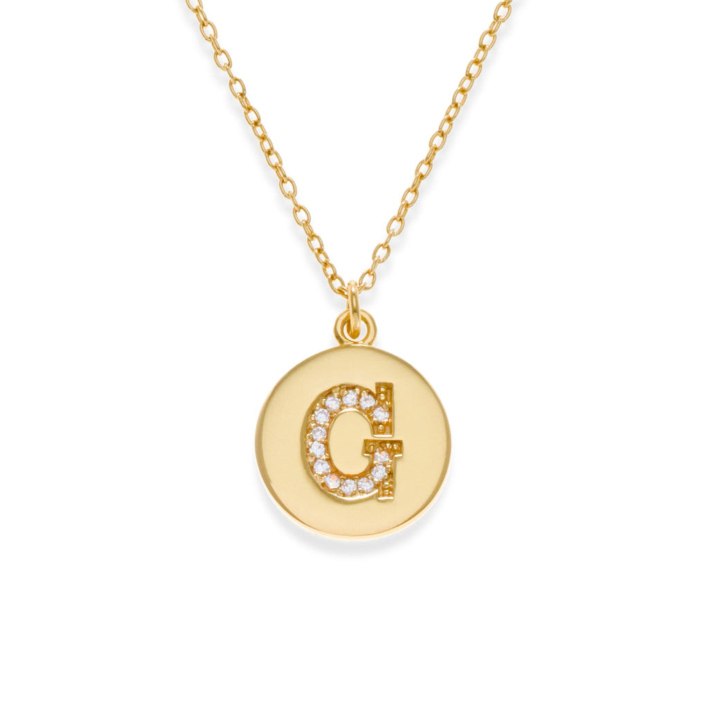 18K Gold Plated Initial Necklace - G | Kith & Kin | It's Personal Collection