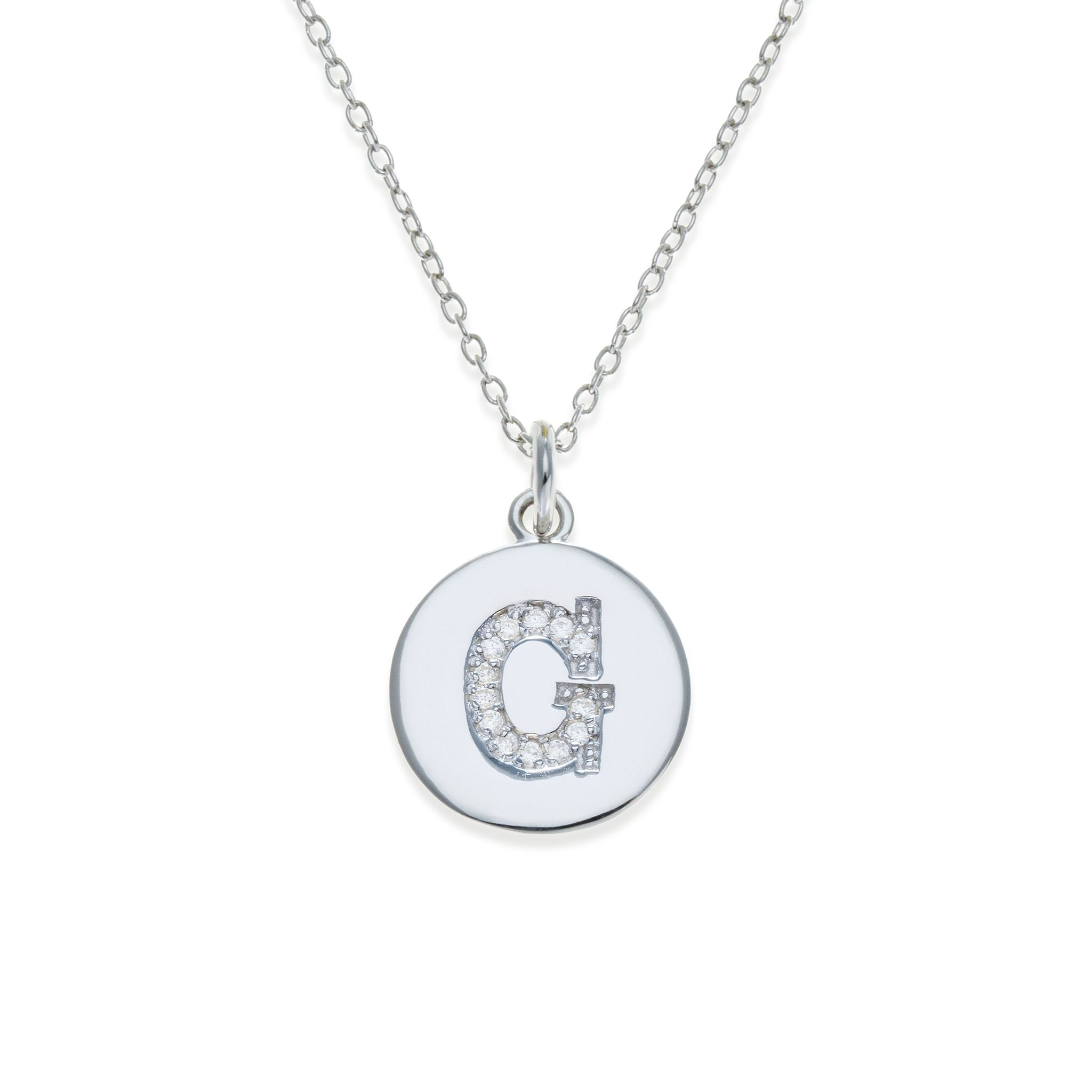 Sterling silver initial necklace g kith kin its personal sterling silver initial necklace g kith kin its personal collection aloadofball Gallery