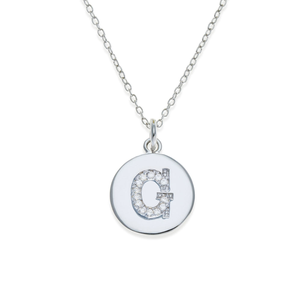 Sterling Silver Initial Necklace - G | Kith & Kin | It's Personal Collection