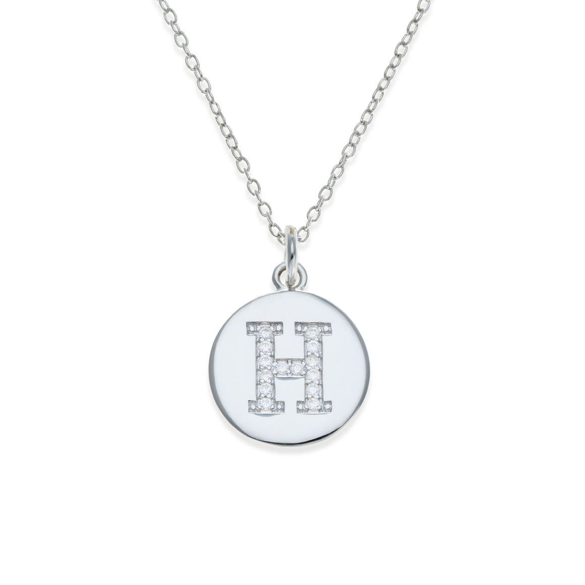 Sterling Silver Initial Necklace - H | Kith & Kin | It's Personal Collection