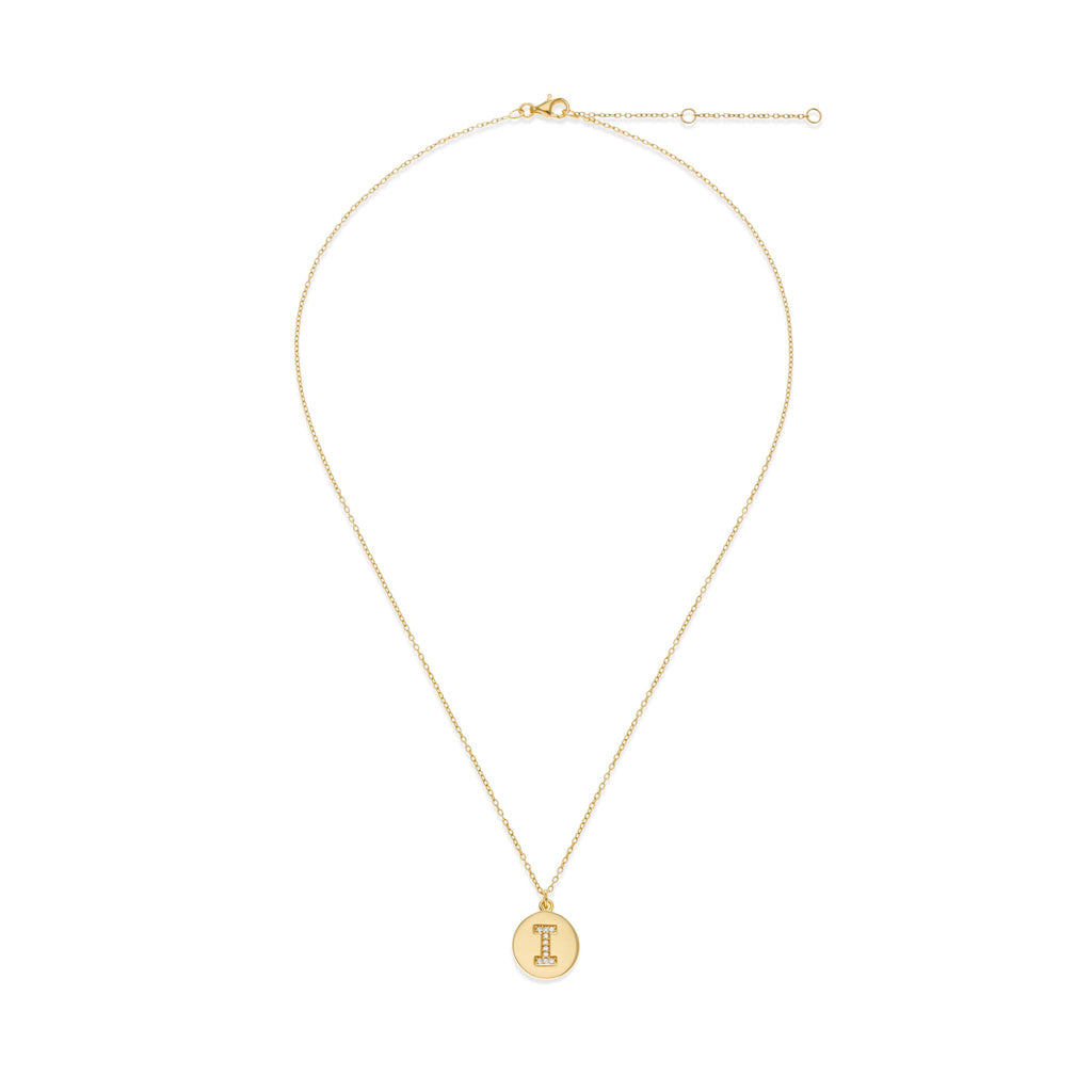 18K Gold Plated Initial Necklace - I | Kith & Kin | It's Personal Collection