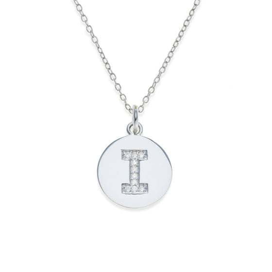 Sterling Silver Initial Necklace - I | Kith & Kin | It's Personal Collection