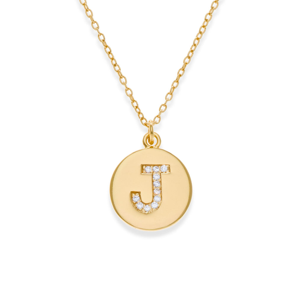 18K Gold Plated Initial Necklace - J | Kith & Kin | It's Personal Collection