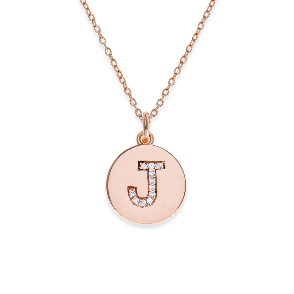 18K Rose Gold Plated Initial Necklace - J | Kith & Kin | It's Personal Collection