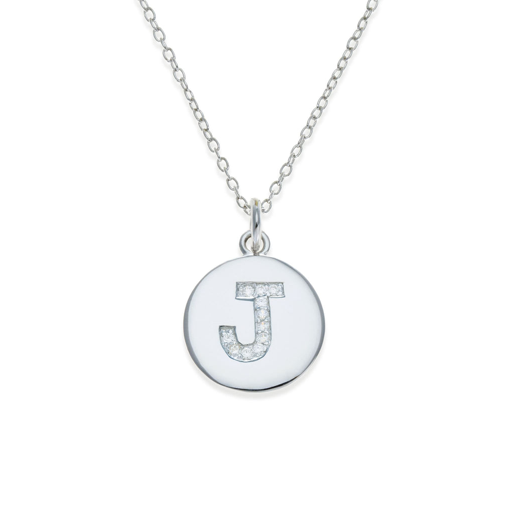 Sterling Silver Initial Necklace - J | Kith & Kin | It's Personal Collection