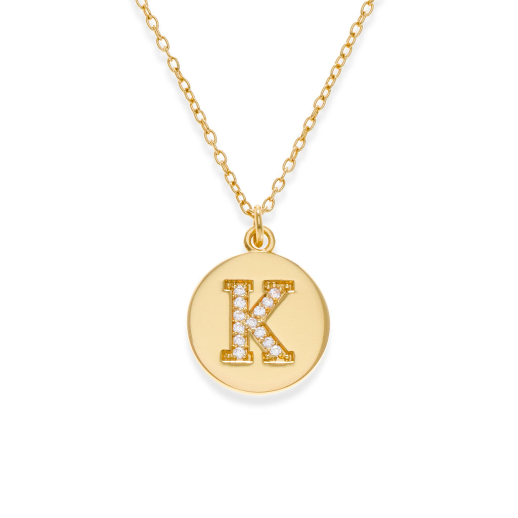 18K Gold Plated Initial Necklace - K | Kith & Kin | It's Personal Collection