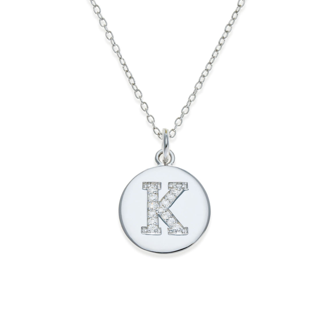 Sterling Silver Initial Necklace - K | Kith & Kin | It's Personal Collection