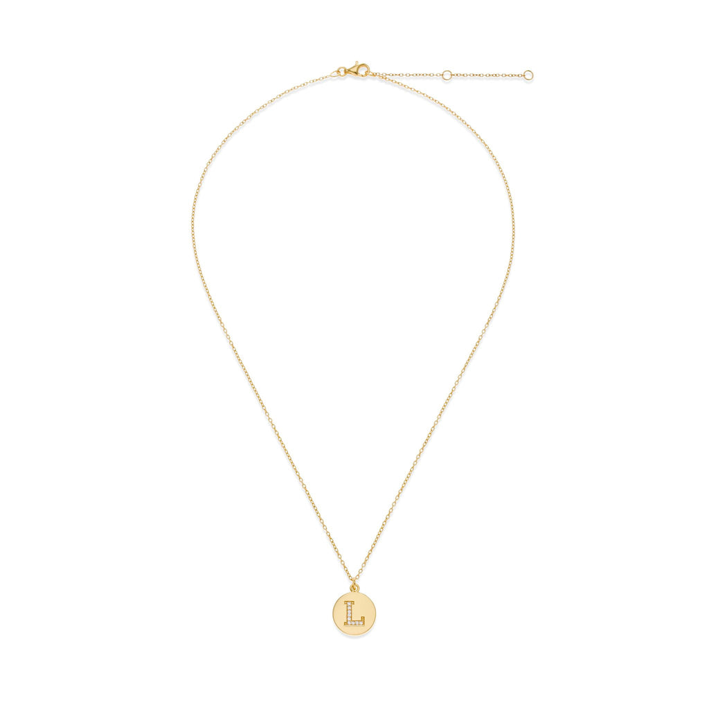 18K Gold Plated Initial Necklace - L | Kith & Kin | It's Personal Collection