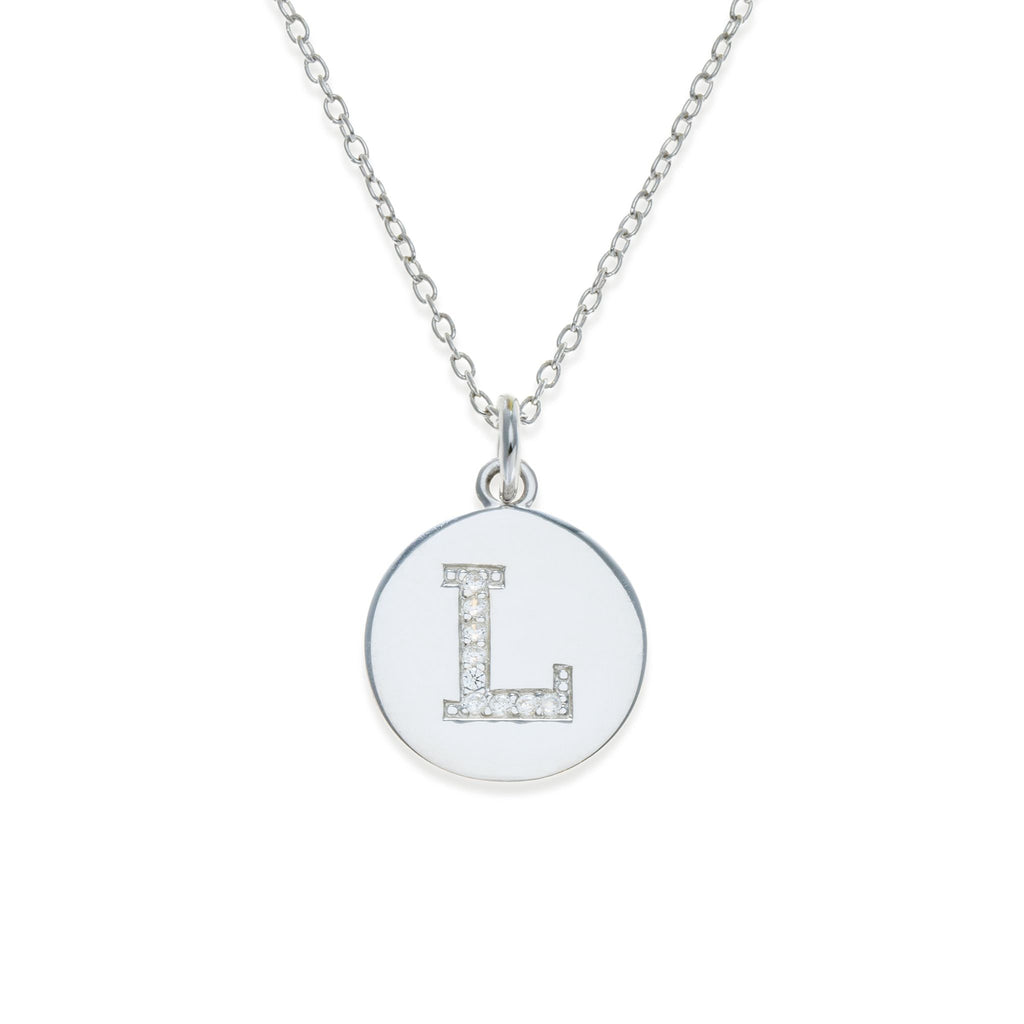 Sterling Silver Initial Necklace - L | Kith & Kin | It's Personal Collection