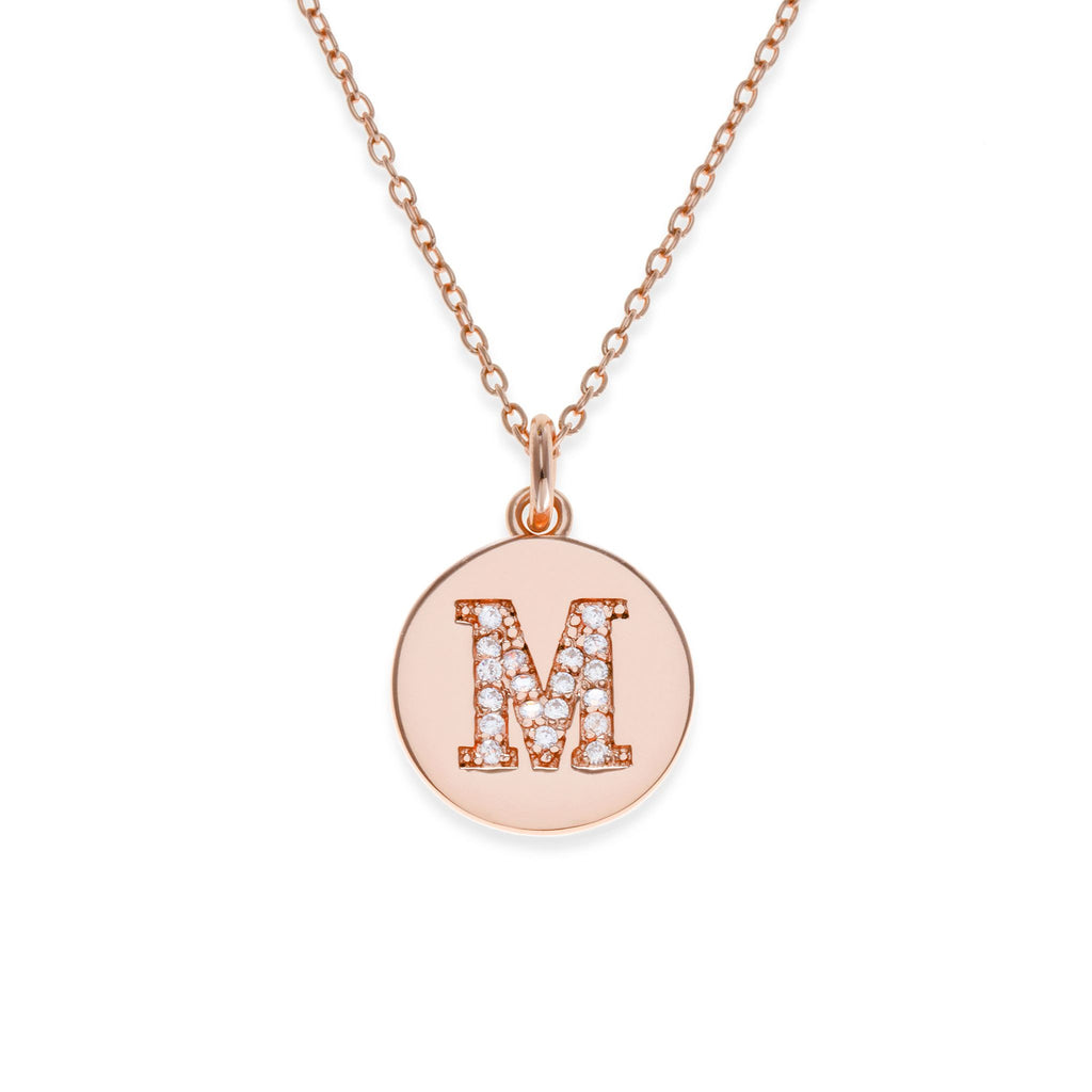 18K Rose Gold Plated Initial Necklace - M | Kith & Kin | It's Personal Collection