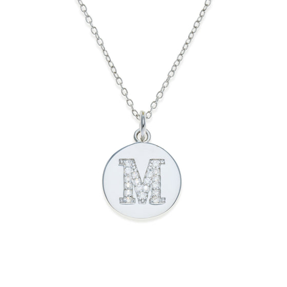 Sterling Silver Initial Necklace - M | Kith & Kin | It's Personal Collection