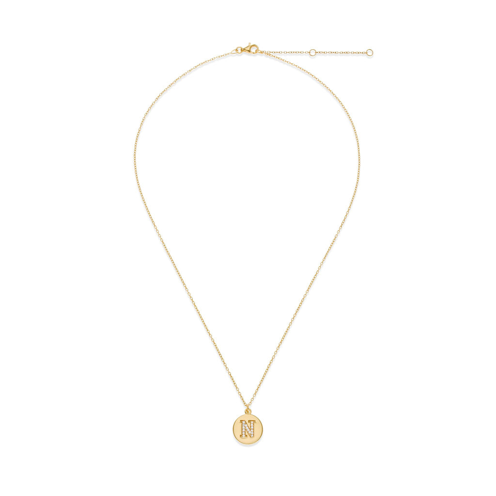 18K Gold Plated Initial Necklace - N | Kith & Kin | It's Personal Collection