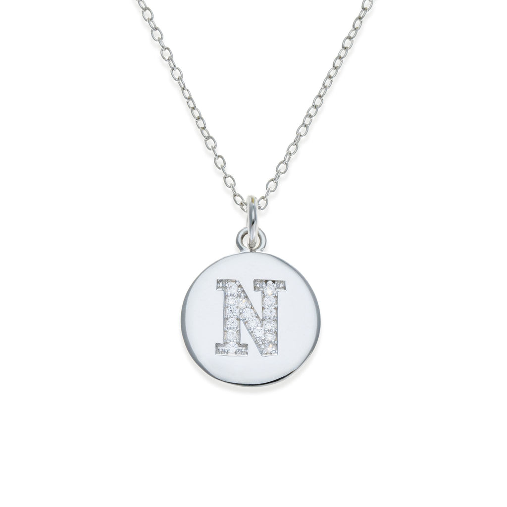 Sterling Silver Initial Necklace - N | Kith & Kin | It's Personal Collection