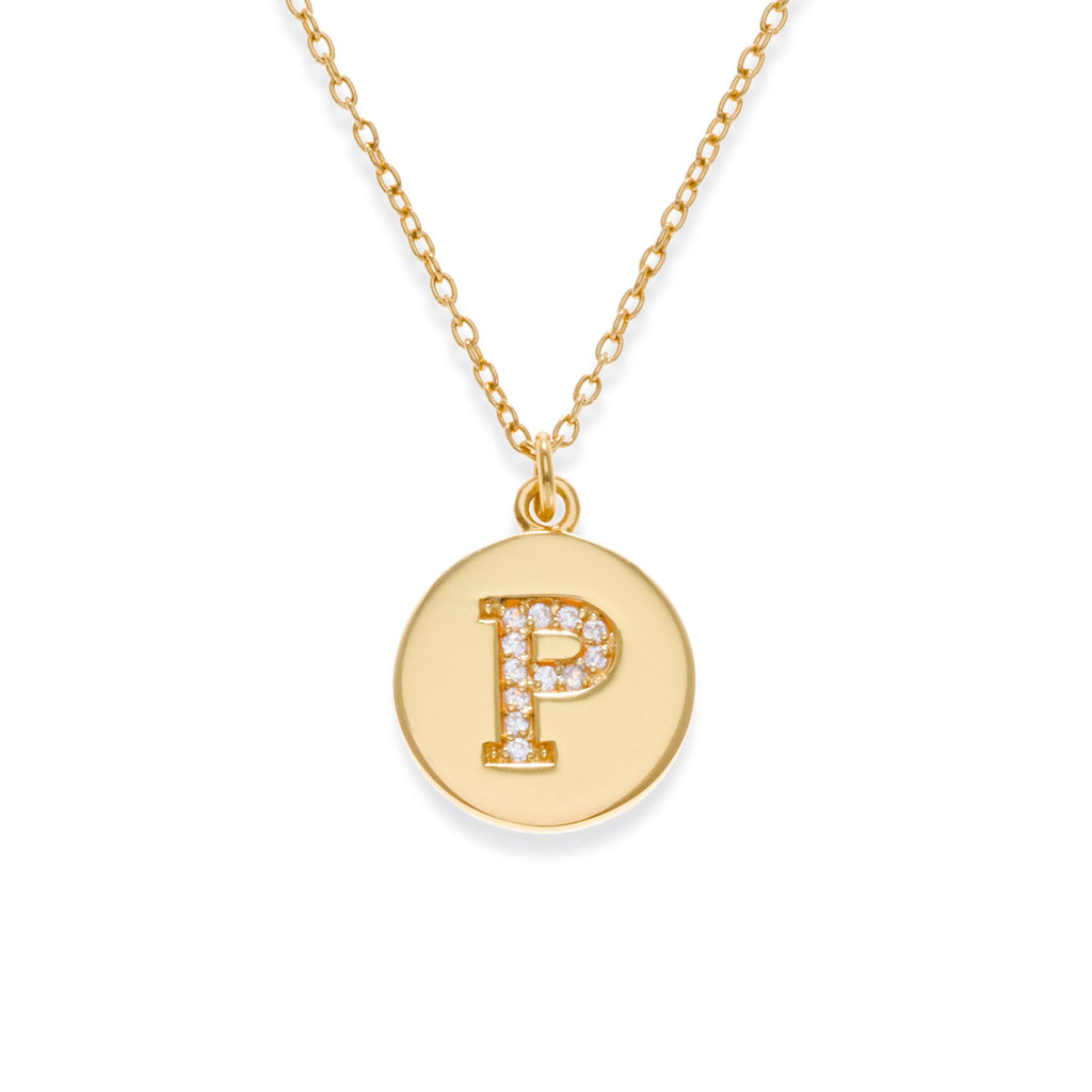 18K Gold Plated Initial Necklace - P | Kith & Kin | It's Personal Collection