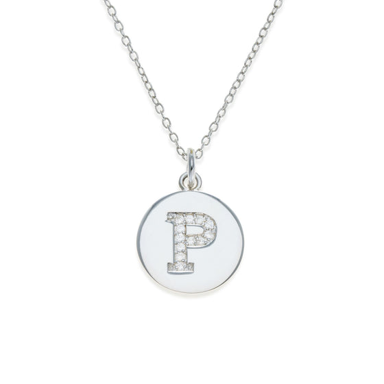 Sterling Silver Initial Necklace - P | Kith & Kin | It's Personal Collection