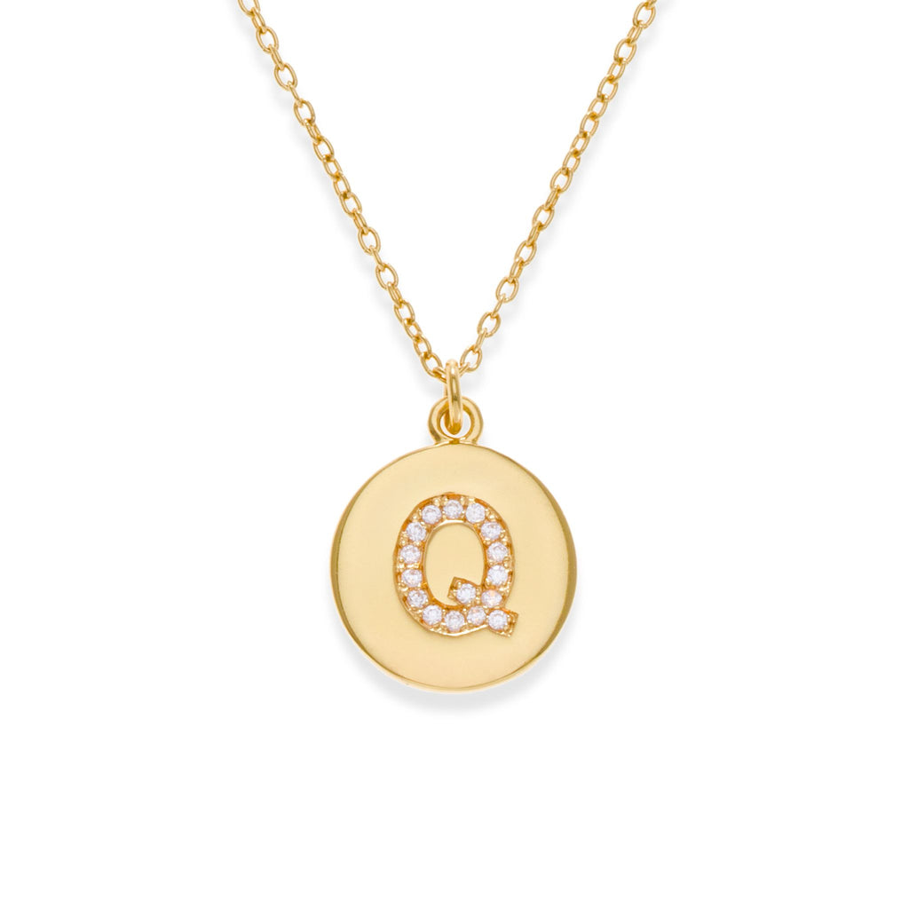 18K Gold Plated Initial Necklace - Q | Kith & Kin | It's Personal Collection