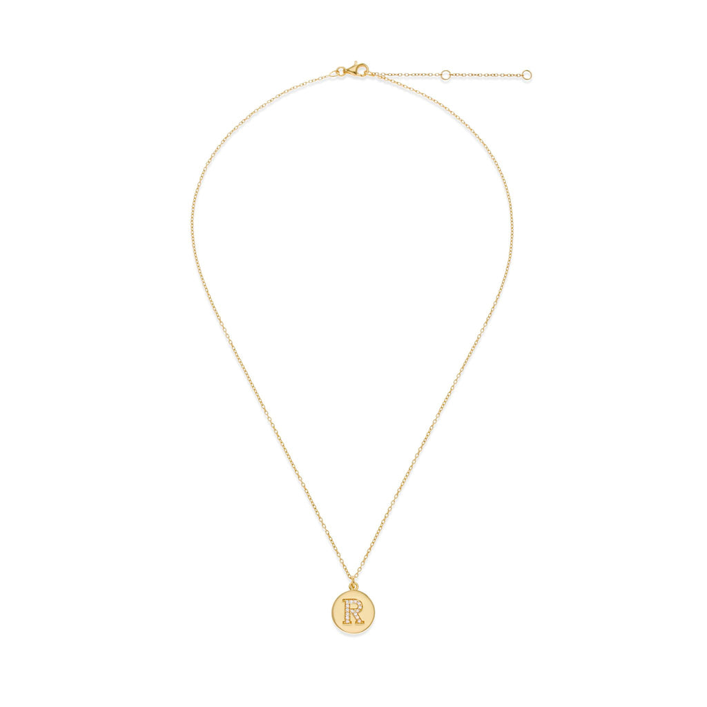 18K Gold Plated Initial Necklace - R | Kith & Kin | It's Personal Collection