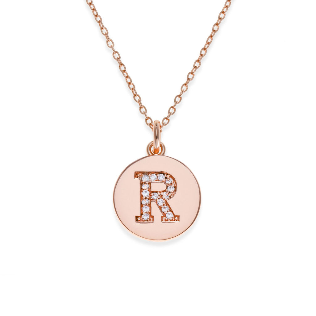 18K Rose Gold Plated Initial Necklace - R | Kith & Kin | It's Personal Collection