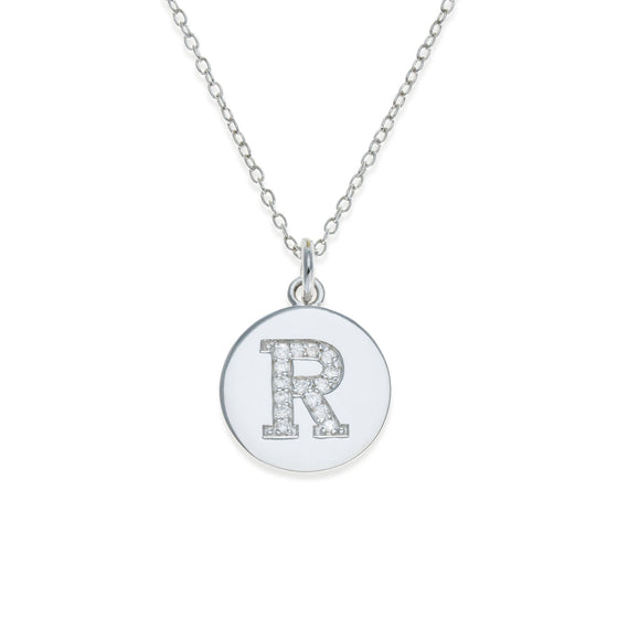 Sterling Silver Initial Necklace - R | Kith & Kin | It's Personal Collection